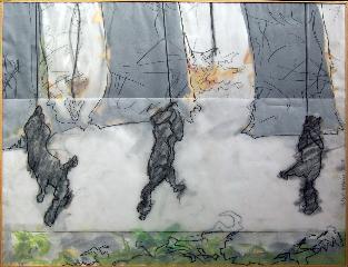 Squirels 1 - crayon, calque, acrylique - Norbert Hillaire, 2007